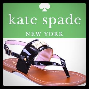 🆕Kate Spade Black Leather Sandal